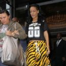 Rihanna: leaving her hotel in London