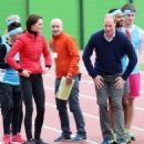 Prince William, Duchess Catherine and Harry visited London Marathon Day