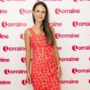 Jordana Brewster on 'Lorraine' TV Show in London - 454 x 792