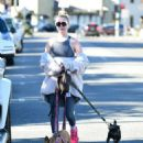 Alessandra Torresani – Walking her dogs in Los Angeles - 454 x 544