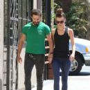 Shia LaBeouf — Out for lunch with his girlfriend Mia Goth in Los Angeles — August 22, 2014