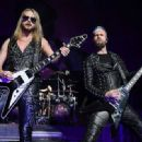 Richie Faulkner of Judas Priest performs on the final night of the band's Firepower World Tour at The Joint inside the Hard Rock Hotel & Casino on June 29, 2019 in Las Vegas, Nevada - 454 x 332