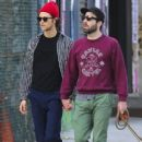 Zachary Quinto and Miles McMillan take their dogs for a walk in the East Village neighborhood of New York City NY on October 17, 2016 - 413 x 600