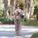 Chloe Goodman – Wears a zebra print jumpsuit out in Dubai - 454 x 429
