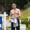 Gerard Butler: Shirtless Malibu Surfer