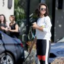 Nina Dobrev with her new rescue puppy Maverick in West Hollywood