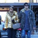 Paris Hilton with boyfriend Chris Zylka out in Aspen