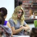 Ashley Greene spotted getting her manicure on at a salon in Beverly Hills, California on April 22, 2017 - 454 x 556