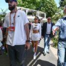 Bella Hadid Arriving at Roland Garros in Paris