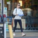 Rosie Huntington Whiteley in Tights – Out in Los Angeles