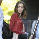 Lily Collins on 'Lorraine' TV Show in London - 454 x 710