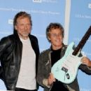 Robert Plant and Roger Daltrey pose at a press conference to announce the Daltrey/Townsend Teen & Young Adult Cancer Program at UCLA on November 4, 2011 in Los Angeles, California - 454 x 313