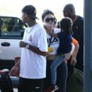 Kylie Jenner and Tyga spotted departing on a flight in Costa Rica on January 30, 2017 - 454 x 551