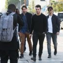 Joe & Kevin Jonas meet some friends for lunch in Los Angeles, California on January 9, 2015 - 454 x 371