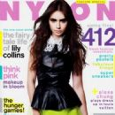 Lily Collins is on the cover of the March issue of NYLON magazine