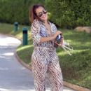 Chloe Goodman – Wears a zebra print jumpsuit out in Dubai - 454 x 663