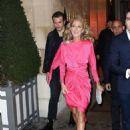 Celine Dion – Leaving the hotel De Crillon in Paris - 454 x 634