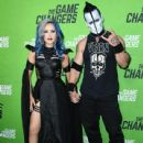 "Alissa White-Gluz and Doyle Wolfgang von Frankenstein attend the LA Premiere Of ""The Game Changers"" at ArcLight Hollywood on September 04, 2019 in Hollywood, California"