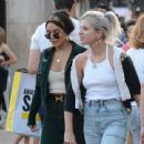 Vanessa Hudgens with friends out in Hollywood
