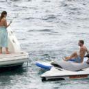 Ann-Kathrin Brommel and Anna Sharypova in Bikini on holiday in Mallorca - 454 x 288
