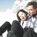 Felicity Jones and Ed Westwick on Chalet Girl (2011) shoot