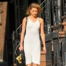 Amber Heard in White Dress out in New York City