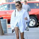 Hailey Bieber – Seen arriving at a spa in West Hollywood