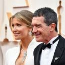 Antonio Banderas and Nicole Kimpel At The 92nd Annual Academy Awards - Arrivals - 454 x 319