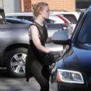 Elle Fanning – Hits the gym in LA