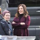 Sophia Bush – On set of her new TV show 'Surveillance' in Vancouver - 454 x 516