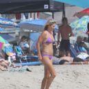 Ali Larter in Purple Bikini on Malibu Beach - 454 x 549