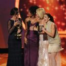 Minka Kelly, Annie Ilonzeh, Rachael Taylor, and Drew Barrymore at The 63rd Primetime Emmy Awards (2011) - 449 x 594