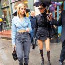 Bella Hadid and Dua Lipa at Sadelle in New York