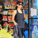 Naya Rivera – Heads to the gym in Los Angeles