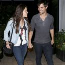 Taylor Lautner & Marie Arrive at Rare by Drai's