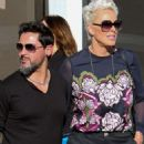 Brigitte Nielsen with her husband Mattia Dessi at Joan's On Third in Studio City - 454 x 681