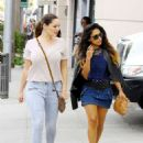 Kelly Brook Shopping In Beverly Hills