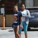 Christina Milian in Shorts – Out in Studio City - 454 x 595