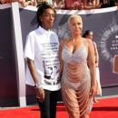 Amber Rose and Wiz Khalifa attend the 2014 MTV Video Music Awards at The Forum in Inglewood, California - August 24, 2014 - 387 x 594