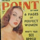 Lila Lynn - Male Point Magazine Cover [United States] (August 1956)