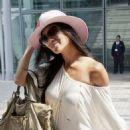 Nicole Scherzinger arriving at Heathrow Airport (June 29)
