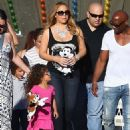 Mariah Carey and friends enjoy an afternoon at the fair in Malibu, California on September 7, 2015