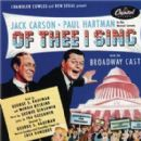 Of Thee I Sing 1952 Broadway Revivel Of George Gershwin Production