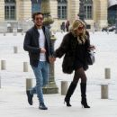 Sylvie Meis and her boyfriend out in Paris - 454 x 377