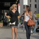 Lily Aldridge and Kate Upton seen walking around the meat packing district in New York City