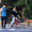 Hilary Duff with her boyfriend out in Los Angeles - 454 x 303
