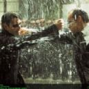Keanu Reeves and Hugo Weaving in Warner Bros. Pictures and Village Roadshow Pictures provocative futuristic action thriller 'The Matrix Revolutions,' also starring Laurence Fishburne and Carrie-Anne Moss and distributed by Warner Bros. Pictures.
