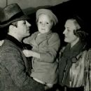 George Raft and Virginia Pine with her daughter