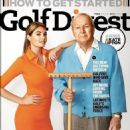Blonde bombshell Kate Upton fronts the December issue of Golf Digest alongside golfing legend, Arnold Palmer - 454 x 584