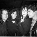 Jellybean Benitez, Loree Rodkin, Cher, and Esai Morales at the Palladium January 1987 - 340 x 227